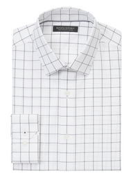Banana Republic Camisa Camden Standard-Fit Non-Iron Dress Gris