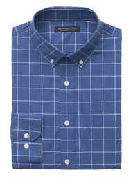 Banana Republic Camisa Slim-Fit Tech-Stretch Cotton Azul
