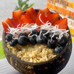 Bowl de avena y frutas