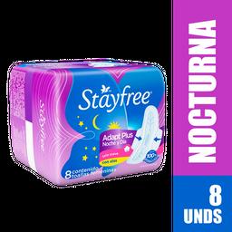 Stayfree Toallas Higiénicas Nocturna Con Alas