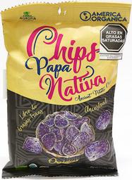 América Orgánica Chips Papa Nativa Azul