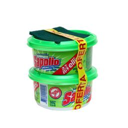 Lavavajilla Sapolio Manzana en Crema Pack 360 g x 2