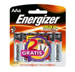 Pila Aa X 4 + Aa X 2 Unidades Gratis Energizer