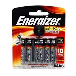 Pila Energizer Aaa X 4 + Aaa X Gratis