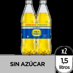 Two Pack Inca Kola Zero X1.5 Lt