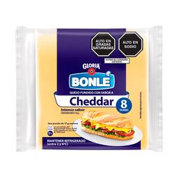 Queso Fundido Bonlé Cheddar en Tajadas 136 g