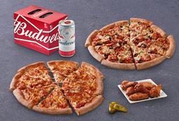 Bud & Pizza Partida Doble Familiar