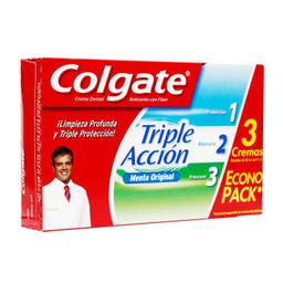 Crema Dental Colgate Triple-Acción 60 mL x 3