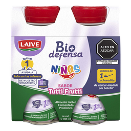 Yogurt Biodefensa Niños Tutti Frutti 100 mL x 4