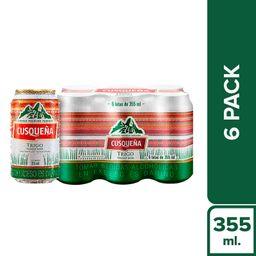 Cusqueña Cerveza Pack 6 Un Trigo Cusquena Lt
