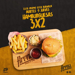 3x2 Hamburguesa Bacon Strike