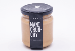 La Sanahoria Mantequilla Mani Crunchy 200 gr