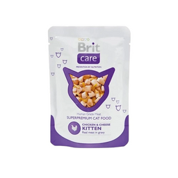 Brit – Cat Chicken & Cheese Kitten Pouch X 80G