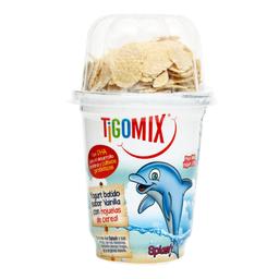 Yogurt Tigo Mix Vainilla Con Hojuelas Azucaradas 125 g