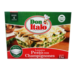 Lasagna Pesto y Champignon 1 Kg