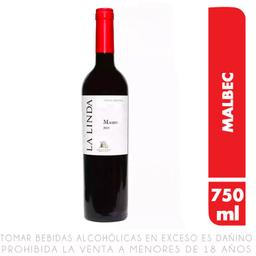 Vino Tinto La Linda Malbec 750 mL
