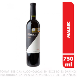 Vino Tinto Las Moras Reserva Malbec X750 Ml