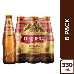 Cerveza Cusqueña Dorada Pack 6 u