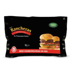Minihamburguesas Super Rancheras