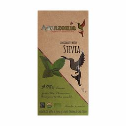 Chocolate Con Stevia 98% Cacao 90 Gr Amazonia