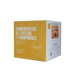 Hamburguesa De Lentejas + Champiñones 5 Unidades Sanua