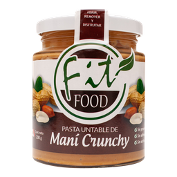 Mantequilla De Mani Crunchy 200 Gr Fitfood