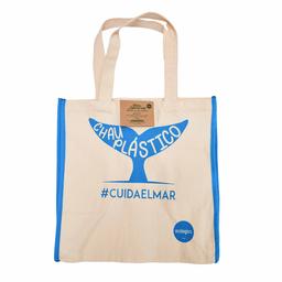 Ecologics Bolsa de Supermercado Azul Cuida el Mar