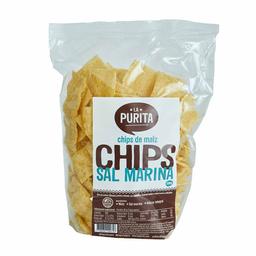 La Purita Chips de Maiz Con Sal Marina
