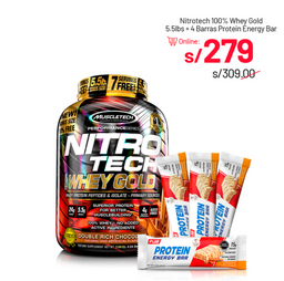 Nitrotech Whey Gold 5.5 + 4 Protein Energy Bar