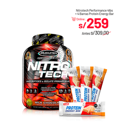 Nitrotech Mps 4 Lb + 4 Protein Energy Bar