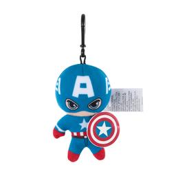 Miniso Llavero Felpa Capitán América de Pie Con Escudo