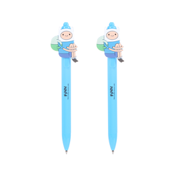 Miniso Lapicero Retráctil Gel Cilíndrica Azul Adventure Time