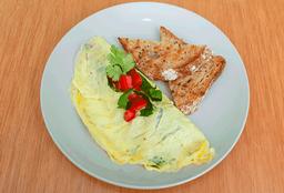 Omelete + Tostadas + Café
