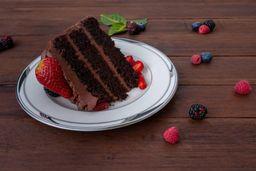 Porcion De Torta De Chocolate Vegana