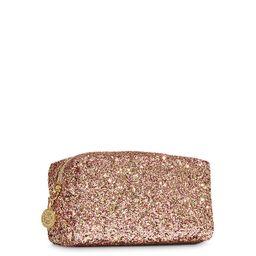 Cosmetiquera Brillo de oro rosa