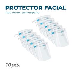 10 Protectores Faciales Tipo Lente