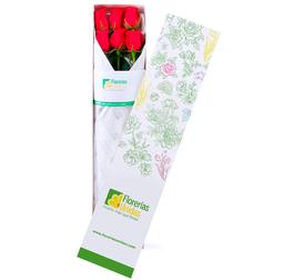 Caja con 6 Rosas