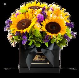 5 Girasoles y Flores Variadas
