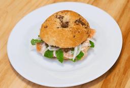 Sándwich Salmón Bagel
