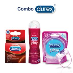 Durex Anillo Vibrador+Lubricante Cerezas50Ml+Real Feel X3Und