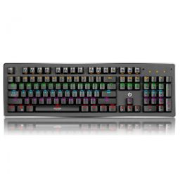 Teclado Gamer Mecanico Falcon Enk1002 Rainbow Usb Enkore