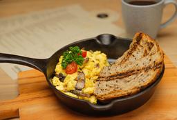 Omelette o Huevo Revuelto con Champiñones