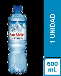 Agua Mineral Con Gas San Mateo X 600 Ml