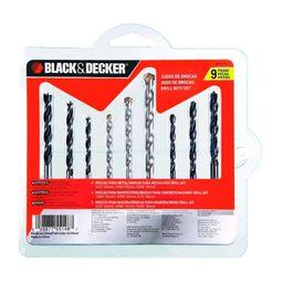 Set De Broca Madera, Concreto Metal Bd0110Cs Black And Decker