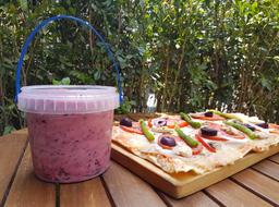 Pizza + Medio Litro de Helado