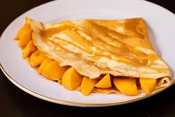 Crepe Manjar con Durazno