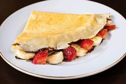 Crepe Fudge con Fresa y Plátano