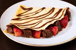 Crepe Nutella con Brownie y Fresas