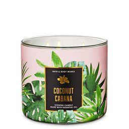 Vela 3 Mechas Coconut Cabana