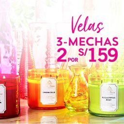2 x S/. 159 Vela 3 Mechas